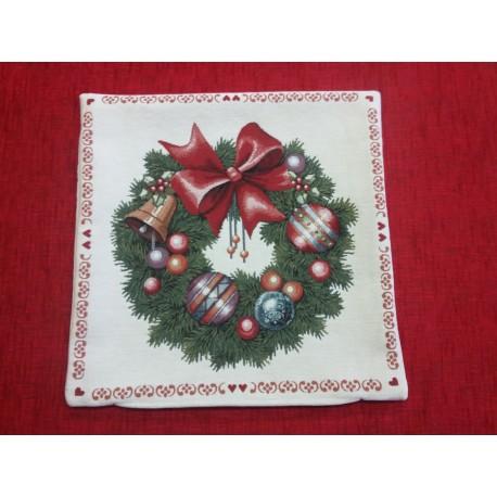 Vánoční polštář - věnec